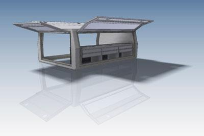 BMF fabrication canopy